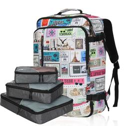 38L Weekender Carry on Backpack Travel College Stamps Duffle