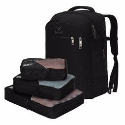 Hynes Eagle 40L Carry On Luggage Backpack 3pcs Set Packing C