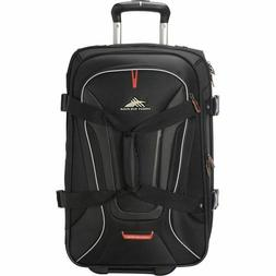 High Sierra AT7 Carry-on Wheeled Duffel Backpack - Black