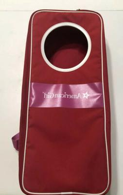 American Girl Backpack Carrying Case Red & Pink NWT Genuine
