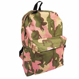 Camo Pattern School Backpack Outdoor Sports Girls Everyday B