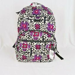 Vera Bradley Essential Large Backpack Scroll Medallion Schoo