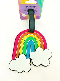 Happy Rainbow Cloud Suitcase ID Luggage Tag for Kids Backpac