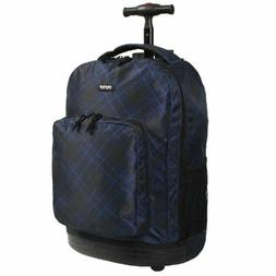 J World Cross Rolling Backpack 18in School Campus Travel Car