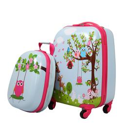 Kids Luggage- 2PCS- Children Carry On Suitcase Rolling Backp