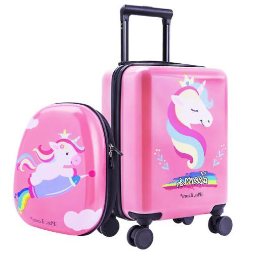"""16"""" Luggage Backpack Kids Suitcase Trolley"""