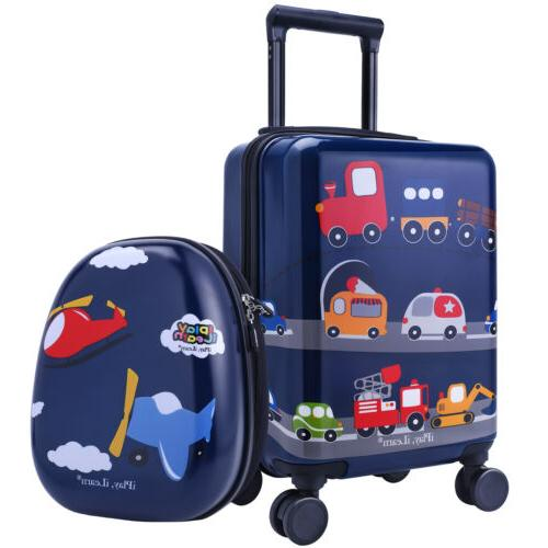 18 carry on spinner luggage backpack set