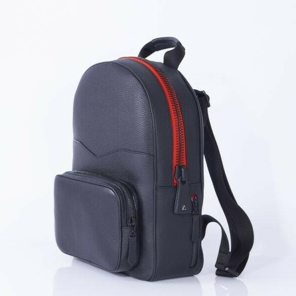 duroc black taurillon leather backpack