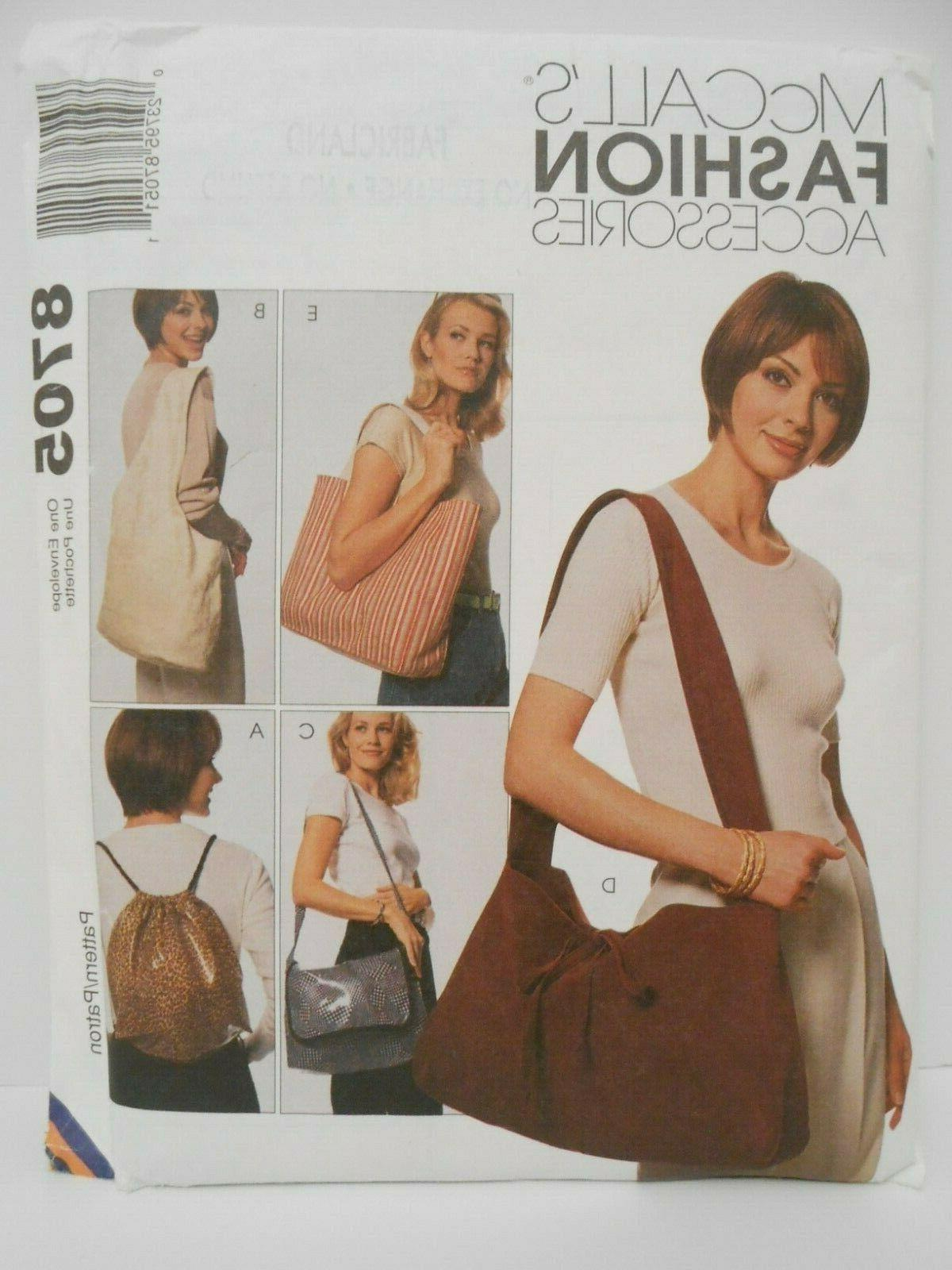 mccalls carry on bags pattern 8705 totes
