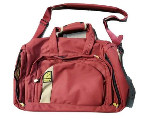 vintage carry on overnight travel red bag