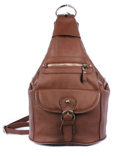 Roma Leathers Concealed Carry Backpack Cowhide Leather YKK L