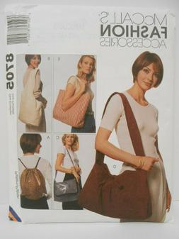 McCalls Carry On Bags Pattern 8705  Totes Backpacks Sling Ba