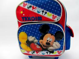 Disney Mickey Mouse Child Toddler Carry On Wheels Rolling Ba