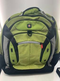 New Wenger by SwissGear Multi-Compartment Lime Green Backpac