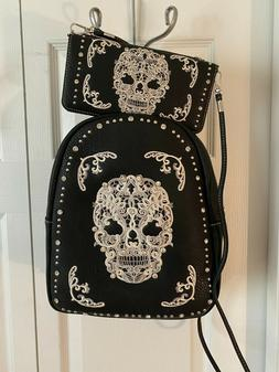 NEW - Montana West SUGAR SKULL Concealed Carry BACKPACK w/Wa