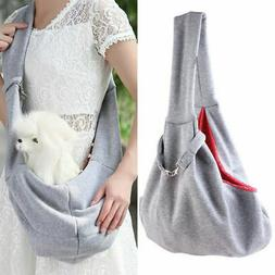 Pet Puppy Dog Cotton Sling Carry Pack Backpack Carrier Trave
