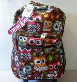 rolling backpack owl 17x13x10 new with tags