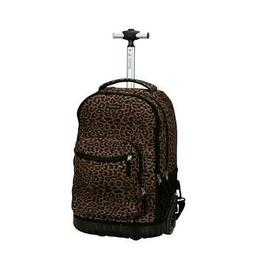 Rockland 19 Inch Rolling Backpack, Leopard, One Size
