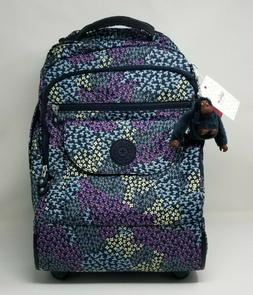 Kipling Sanaa Large Rolling Backpack Dotted Bouquet Print NW