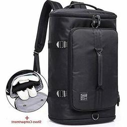 Travel Duffel Backpack, Outdoor Bag With Shoe Compartment, L