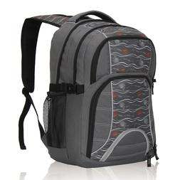 Triple Compartments Backpack Mens Travel Carry-on Knapsack w