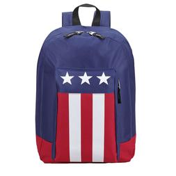 USA Flag Patriotic Backpack Book Bag School Travel Carry-On